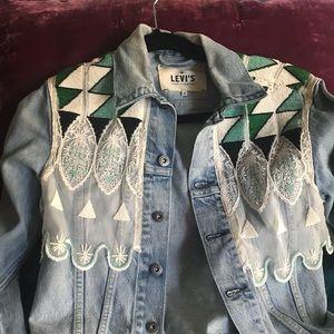 Levi's hand beaded denim jacket